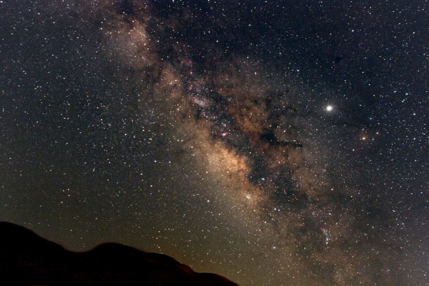 The Milky Way Galaxy can be seen on dark,clear nights. Photo by Derek Rowley.