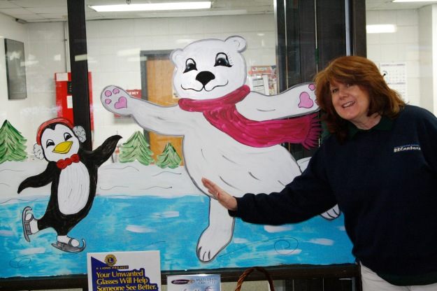 Aquatic Supervisor Ginger Colón's artwork is livens up walls and windows at Providence RECenter,