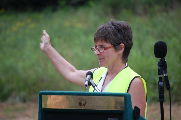 Friends of Accotink Creek representative Suzy Foster spoke passionately about protecting the local environment.