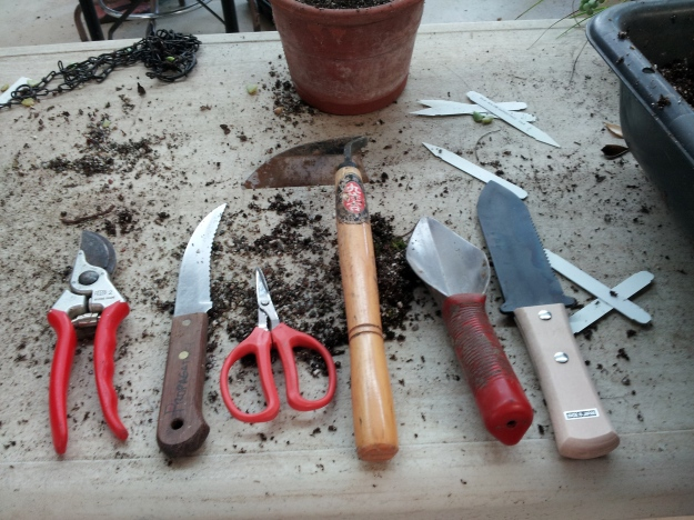 Gardeners choose tools that work well and stick with them.