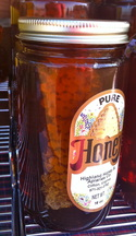 Rare comb honey sells quickly.