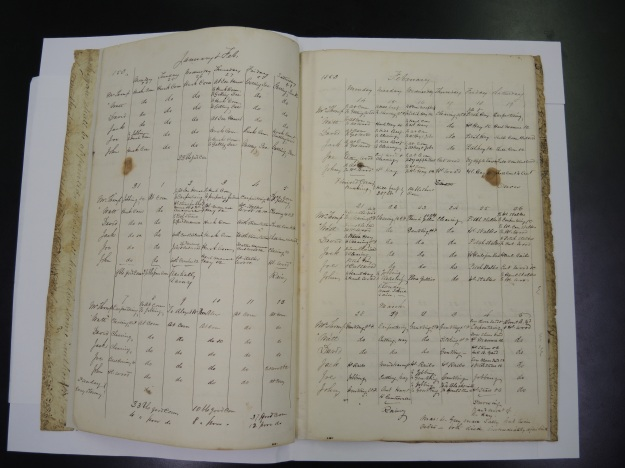 The Walney workbooks provide detailed information about the daily operations of the Machen farm from 1849 to 1854.
