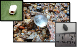 "Glass ""Jewel"" and Beads"