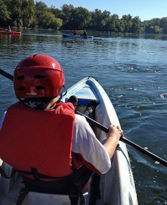 Kayaking at Riverbend Park