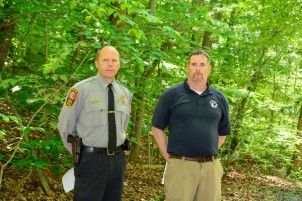 Scott's Run - Lt. Jason Allegra, FCPA and John Callow, Riverbend Park Site Manager