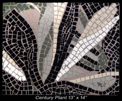 MosaicCenturyPlant-13x14c