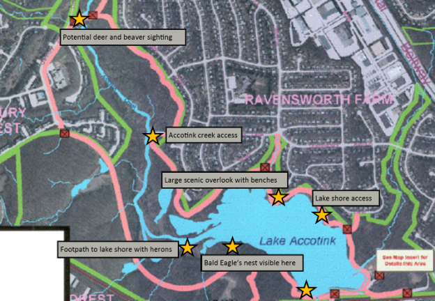 w - lake accotink map
