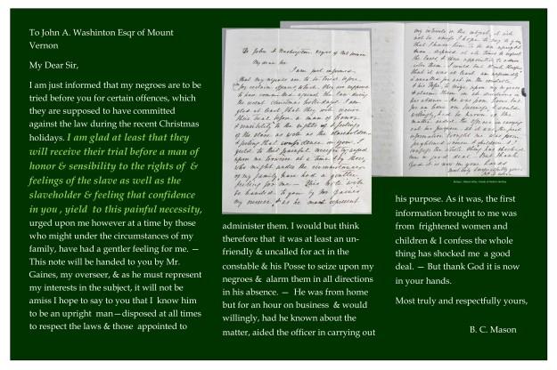 Betsey Mason letter