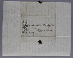 betsey to John Washington re slaves address