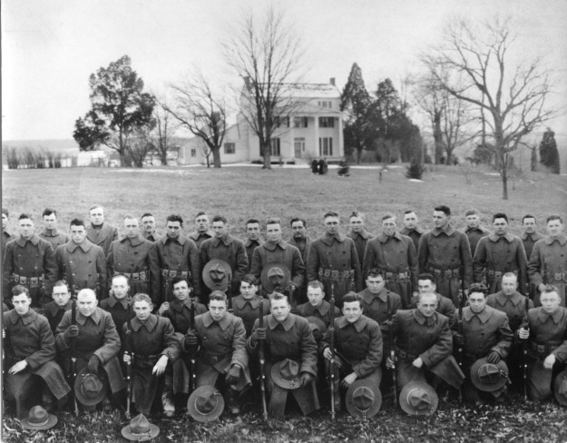 Troops from the 304th Engineer Regiment at Mount Air in 1918.